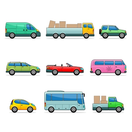 automatic: Vector car icons Illustration