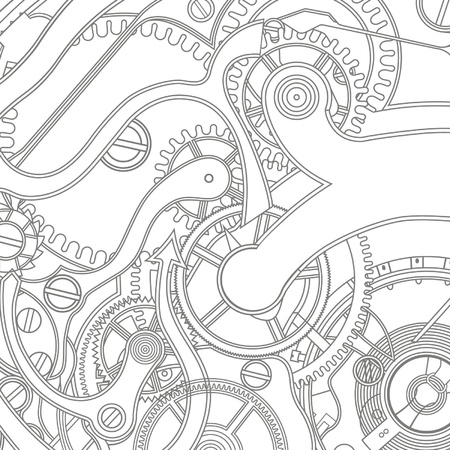 clockworks: seamless pattern of gears