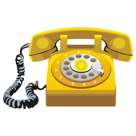 rotary phone: telephone