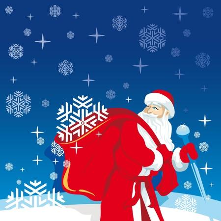 santa s bag: Santa claus, New Year