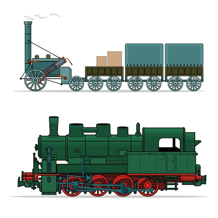 steam train: train (vector illustration) Illustration