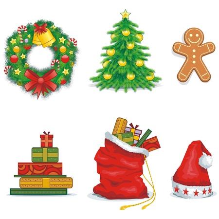 Christmas icons Stock Vector - 11945022