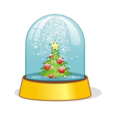 christal: snow ball - christmas decoration Illustration