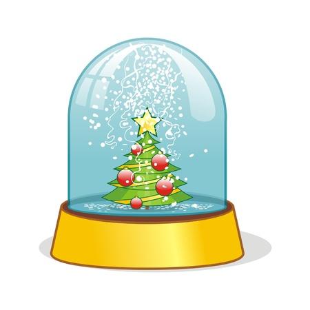 snow ball - christmas decoration Vector