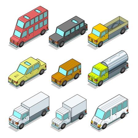 mail truck: auto. vector illustration