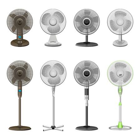 white fan: ventilator Illustration