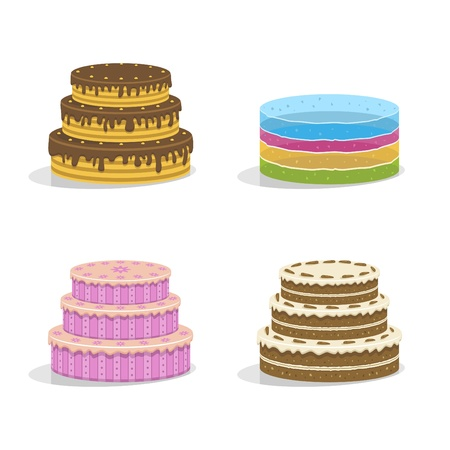 birthday cakes. Vector illustration Stock Vector - 11945034