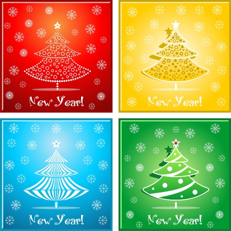 Christmas-tree with decorations. Vector illustration. Vector