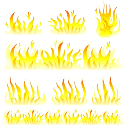 Vector flame collection Stock Vector - 11945049