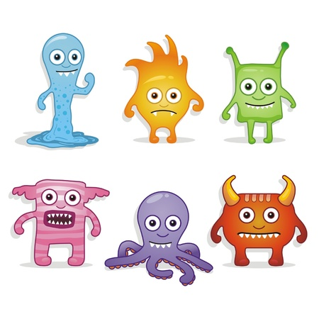 organisms: Cartoon monsters Illustration