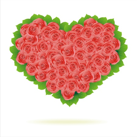 romance image: Floral Heart. Beautiful vector illustration