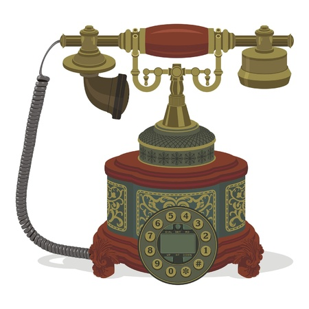 antique telephone: telephone
