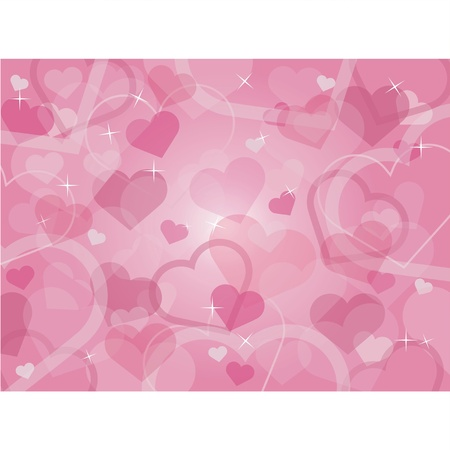Valentine s day background with hearts Stock Vector - 14673642