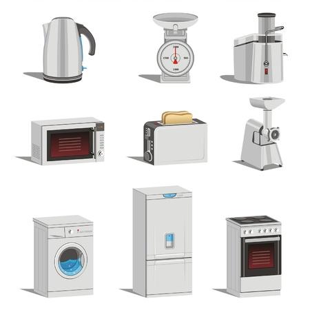 keuken techniek vector icon set