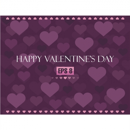 Valentine s day background with hearts Stock Vector - 14673617