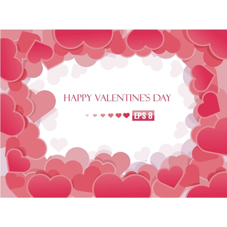 Valentine s day background with hearts Stock Vector - 14673637