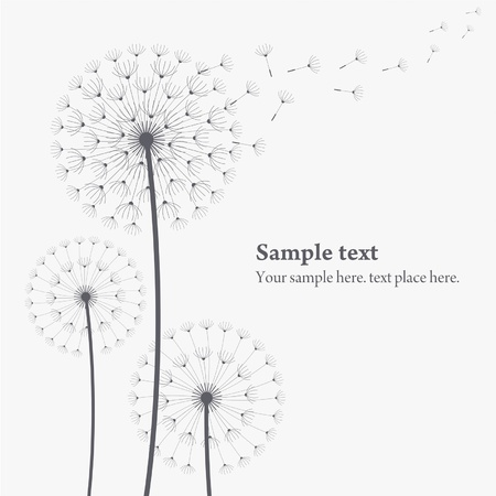 weed: vector dandelion