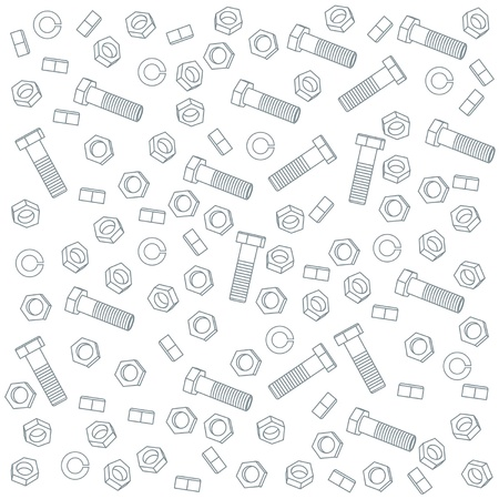 implements: Seamless nuts and bolts Illustration