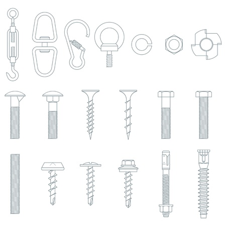 screws: Seamless nuts and bolts Illustration