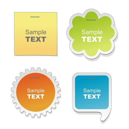 Colorful paper bubble for speech Stock Vector - 12379338