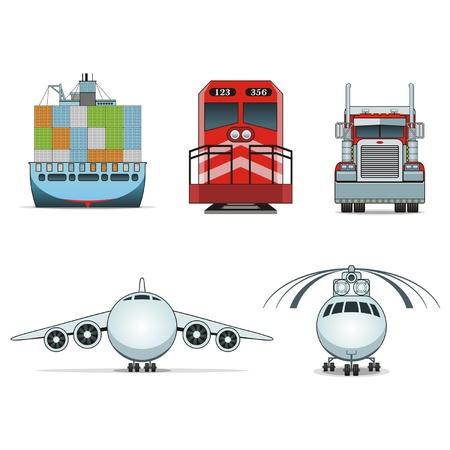 Cargo & Logistiek iconen Vector Illustratie