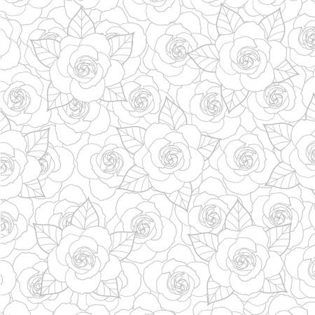 シームレスなバラのパターン  イラスト・ベクター素材