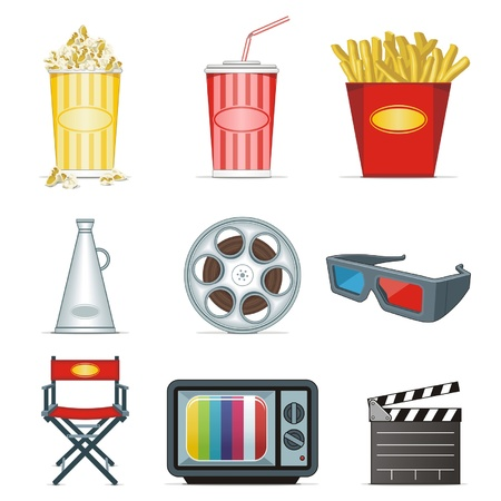movie icons Stock Vector - 12492333