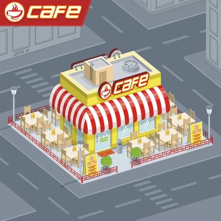Facade coffee shop 向量圖像