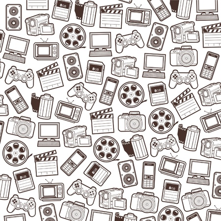 game controller: photo and video seamless pattern