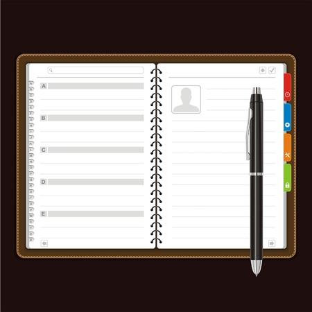 terminplaner: �ffnen pers�nlicher Organizer Illustration