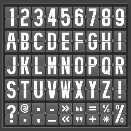 [機械] パネルのアルファベット  イラスト・ベクター素材