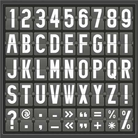 alphabet of mechanical panel Vector