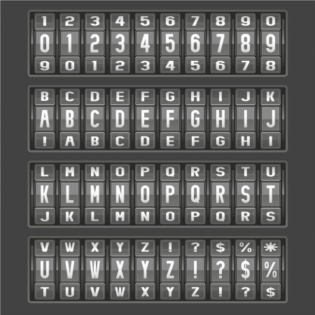 alphabet of mechanical panel Stock Vector - 14375356
