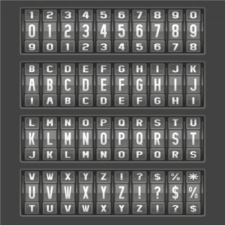 alphabet of mechanical panel