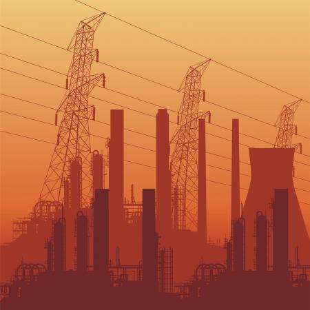 industry background. illustration. Vector