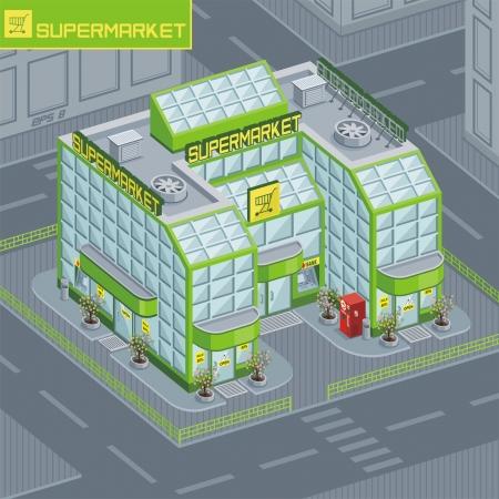 supermarket Stock Vector - 14532411