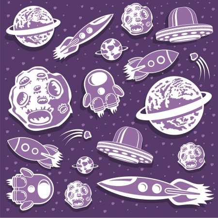 Space background Stock Vector - 14532413