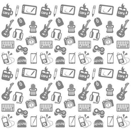 game controller: Seamless pattern