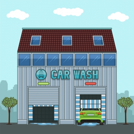 dirty car: car wash