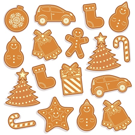 gingerbread seamless pattern for christmas design Vector
