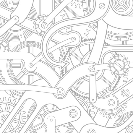 clockwork: seamless pattern of gears