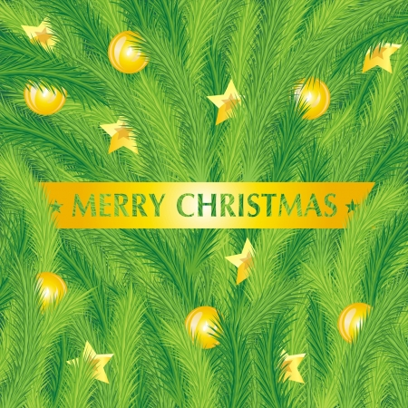 Christmas fir tree texture with Vector