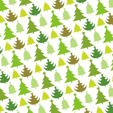 christmas wrapping: vector seamless pattern of christmas tree