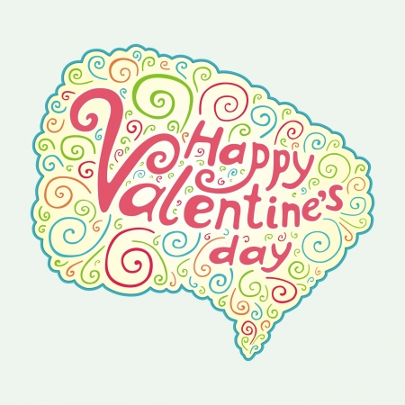 Valentines Day type text Stock Vector - 17246617