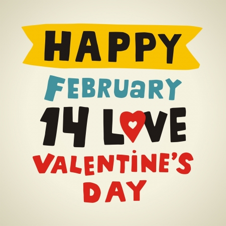 Valentines Day type text Stock Vector - 17275869
