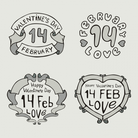 Valentines Day type text Stock Vector - 17331996
