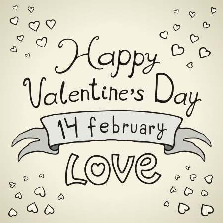 Valentines Day type text Stock Vector - 17350934