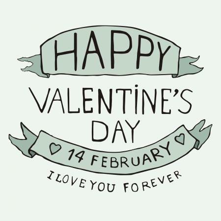Valentines Day type text Stock Vector - 17350933