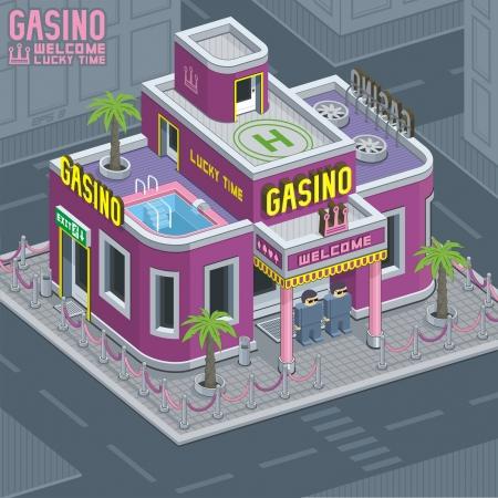 isometric: casino building