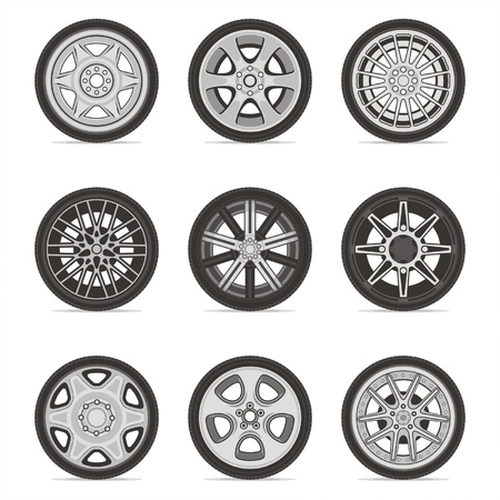 Wheels Stock Vector - 17526717
